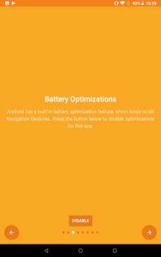 Disable Battery Optimization