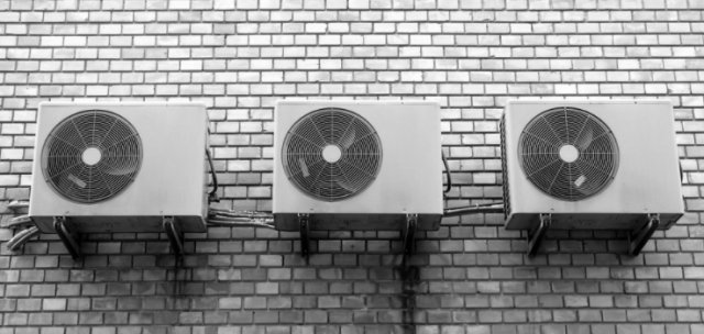 air conditioning unit on wall