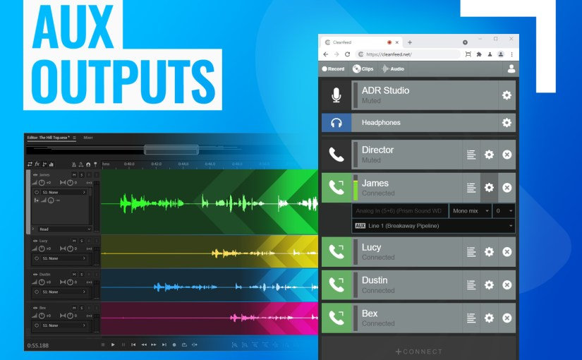 Cleanfeed Introduces Product Features Inspired by TV & Film Sound Engineers. #Cleanfeed