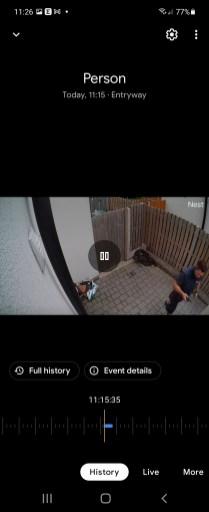 Video capture notification