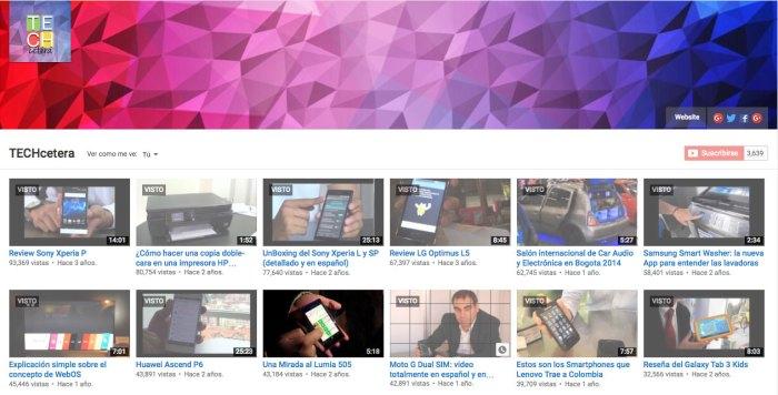 Los videos más vistos de #TECHcetera2015 en el canal de YouTube!