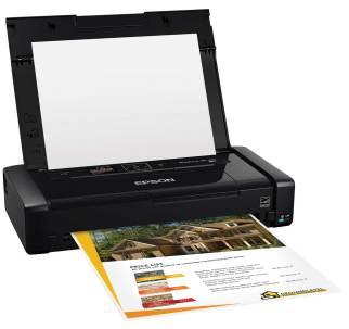 Epson WF-100 imprimiendo