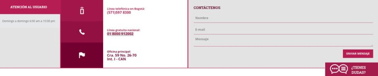 Contacto DANE