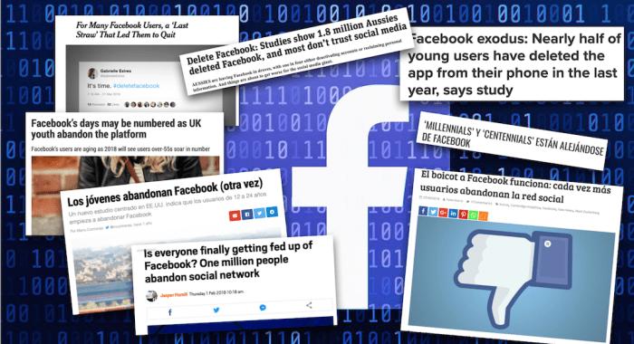 Ya sabemos qué tan grande fue la desbandada de usuarios en Facebook