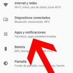 Seleccionar Apps y notificaciones
