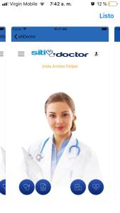 Interfaz de SitiDoctor.