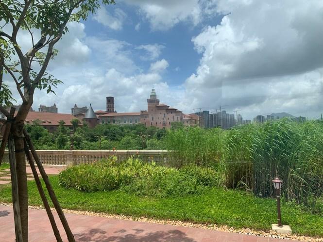 Zonas verdes del campus empresarial Huawei