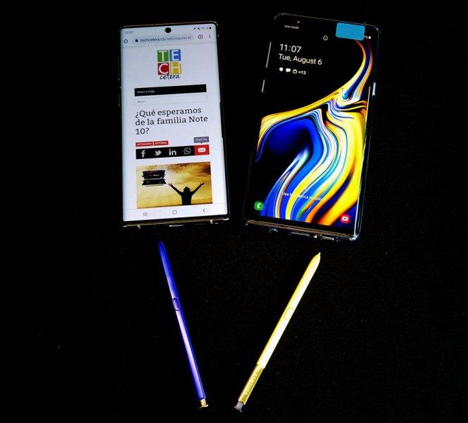 Tamaños del Note 10 y Note 9 con sus S-Pen