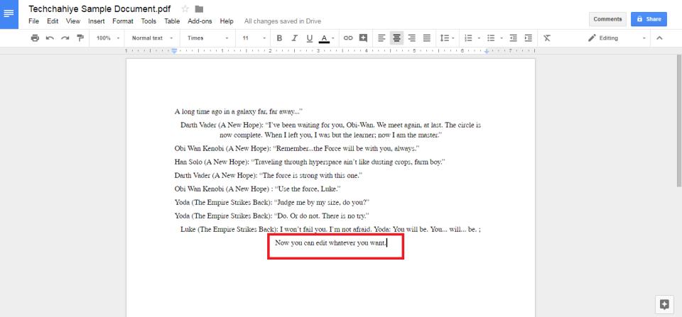 Edit PDF Google Drive: Snap 3