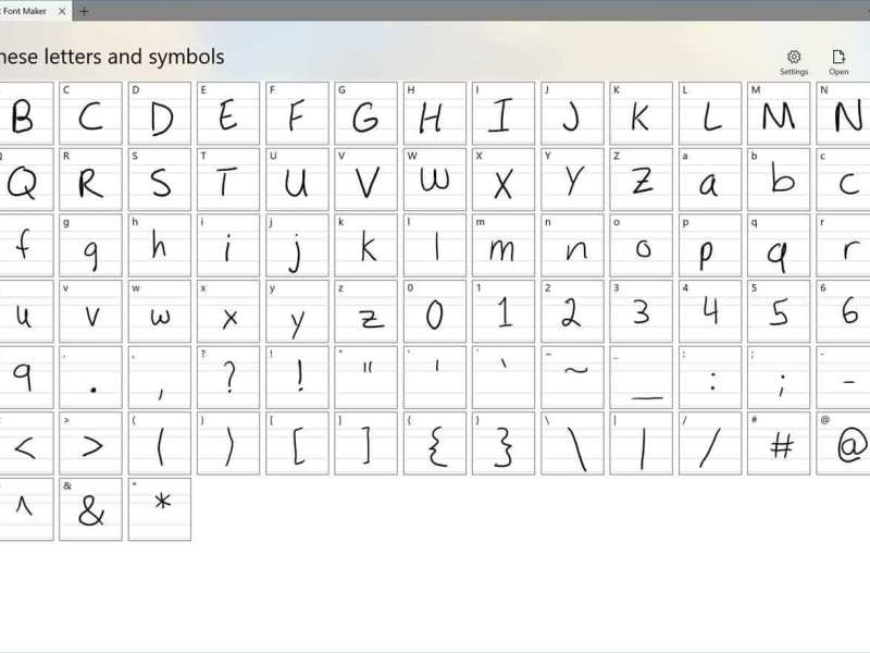 Create Your Own Fonts Via Microsoft Font Maker