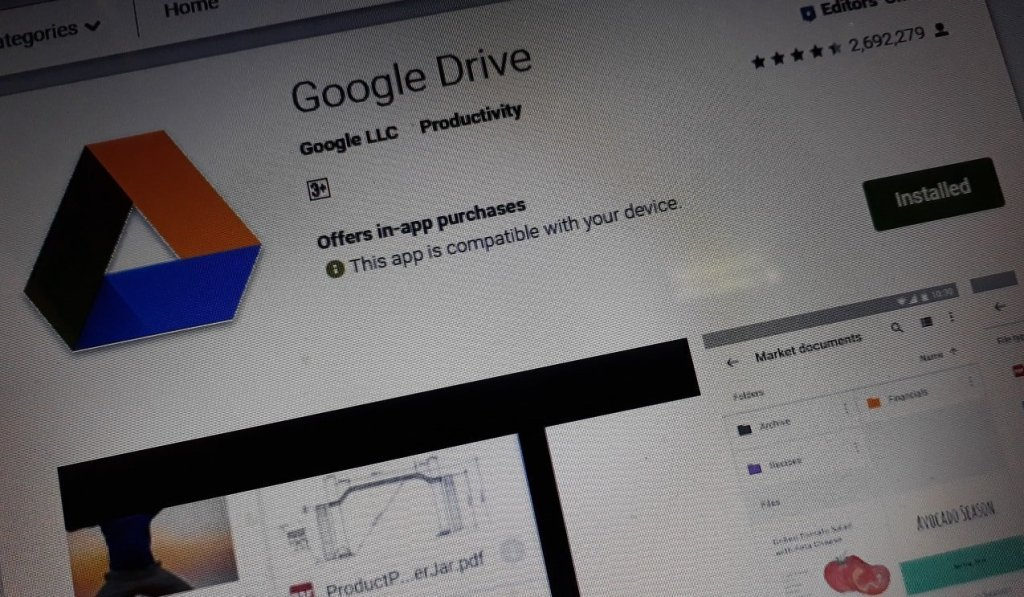 Google Drive for Android Supports Microsoft Office Password Protected Files