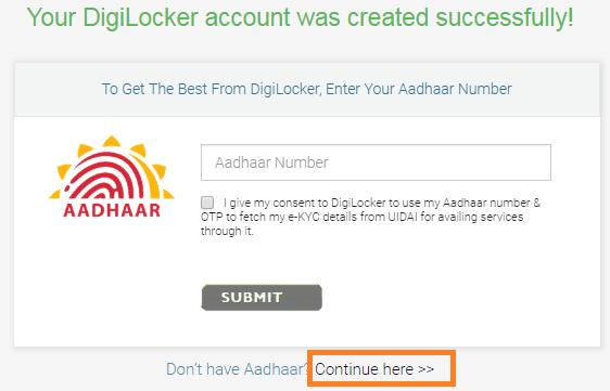 How to Get a DigiLocker Account Screenshot 4