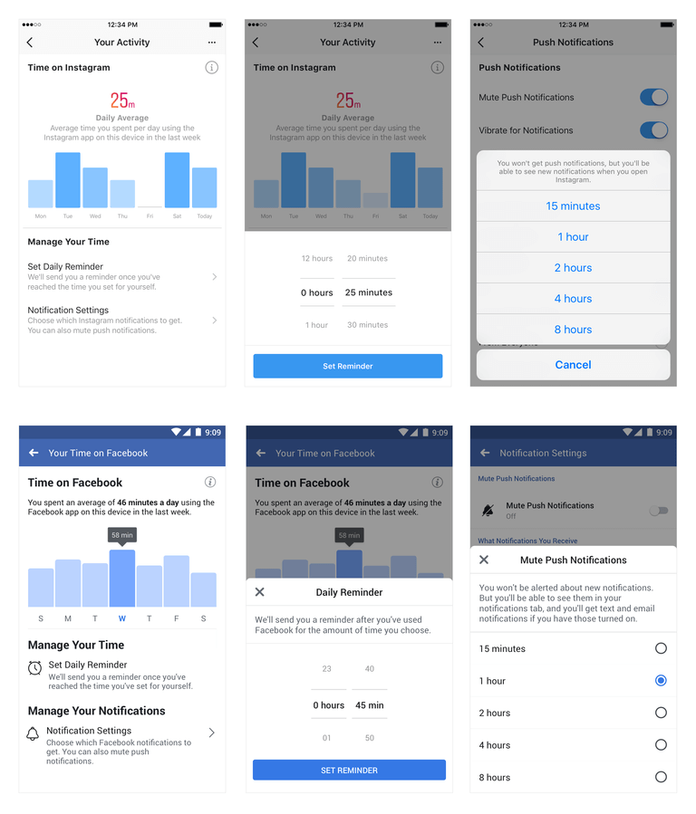 Facebook New Time Management Apps