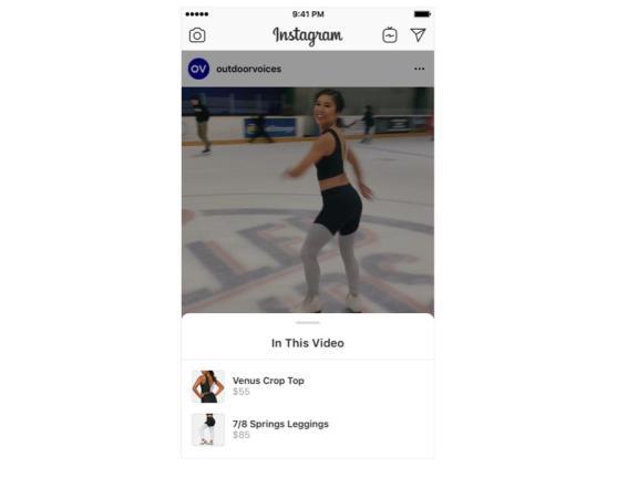 Instagram Shopping via Video Post