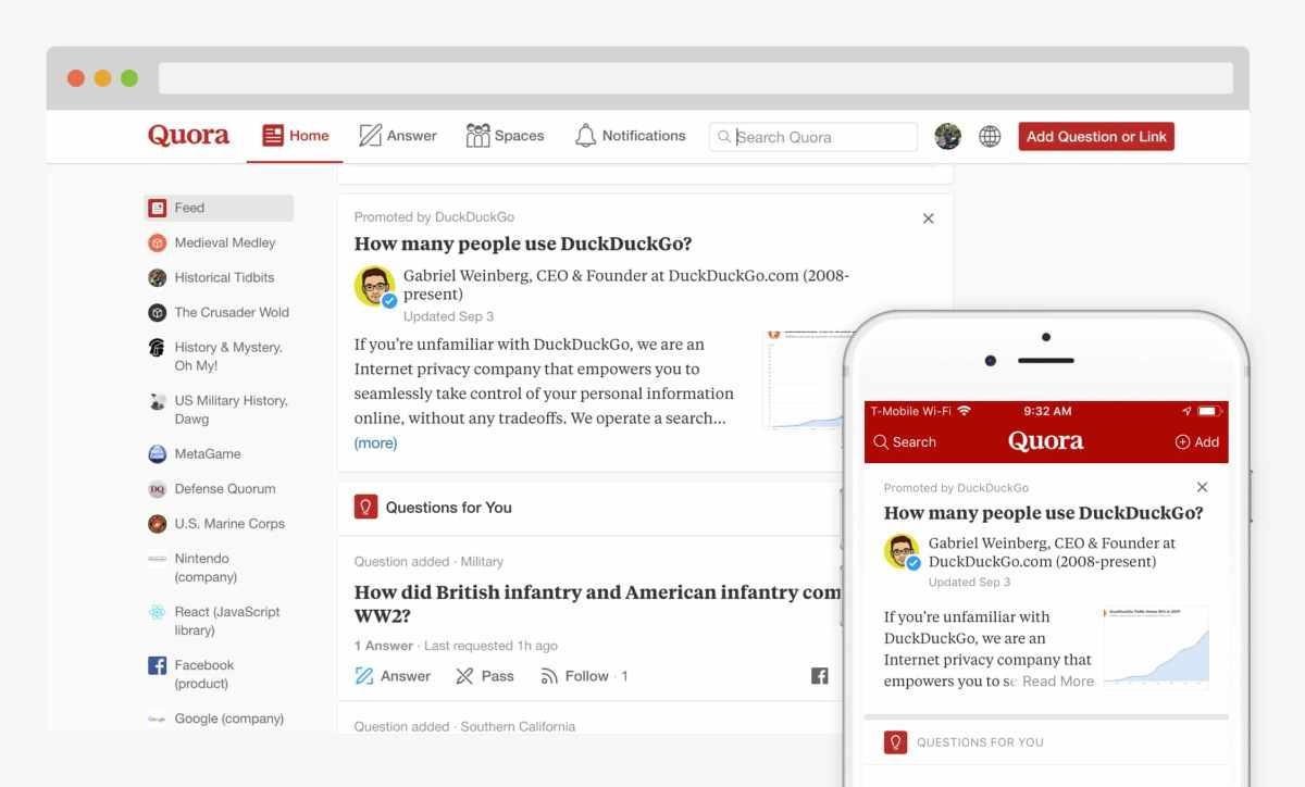 Quora Launches Answer Promotions