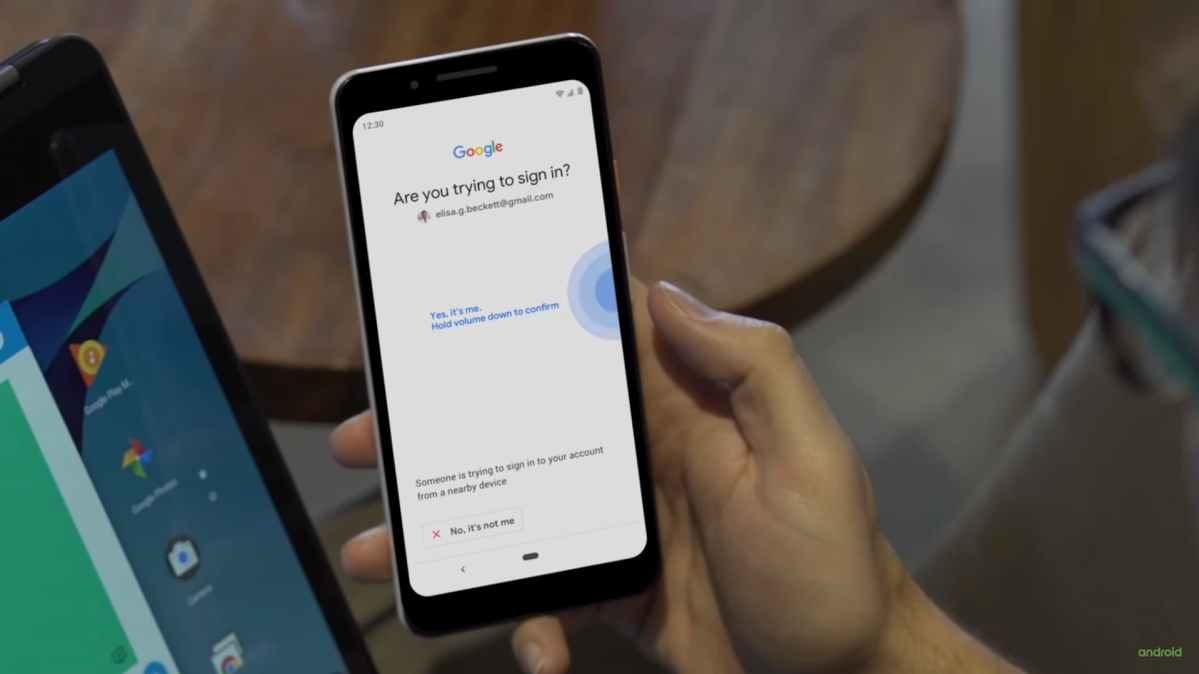 Android Phone as a Physical security key to login to Google Account