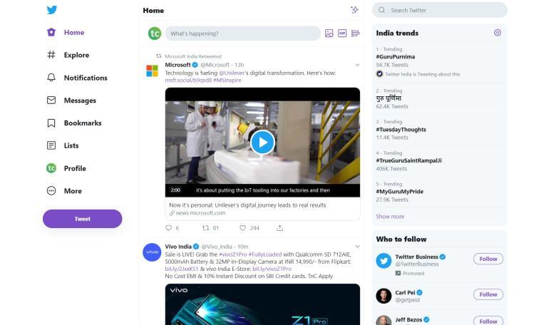 Twitter New Desktop Design