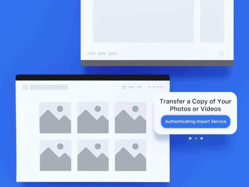 transfer facebook photos video to google photos