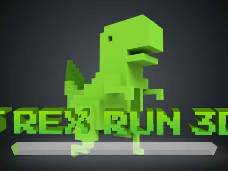 Chrome Dino Run 3D Game