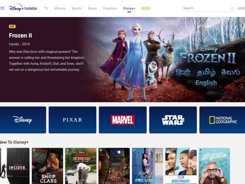 Disney Plus Live India