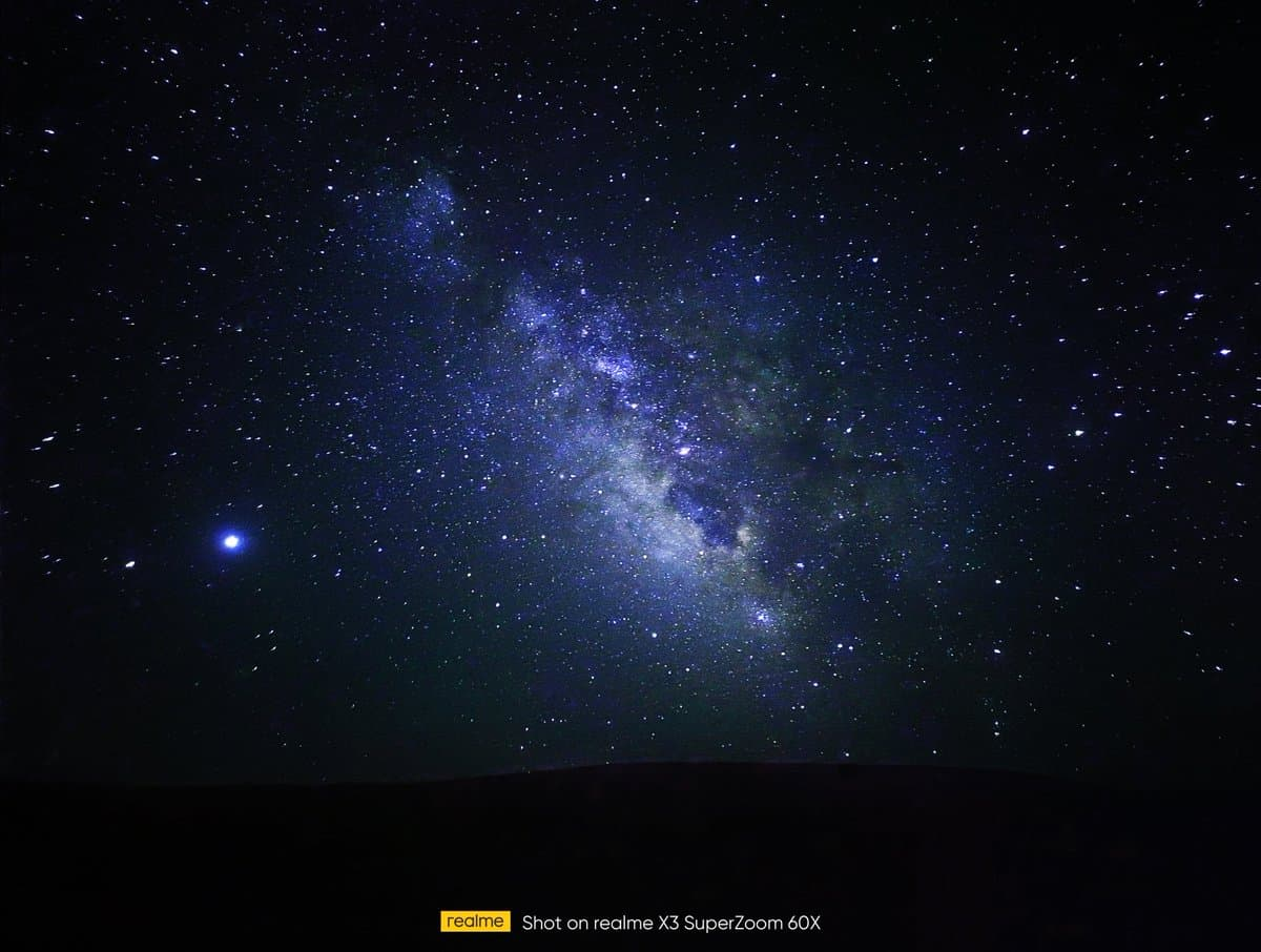Realme X3 can Shot Photos of Milkyway
