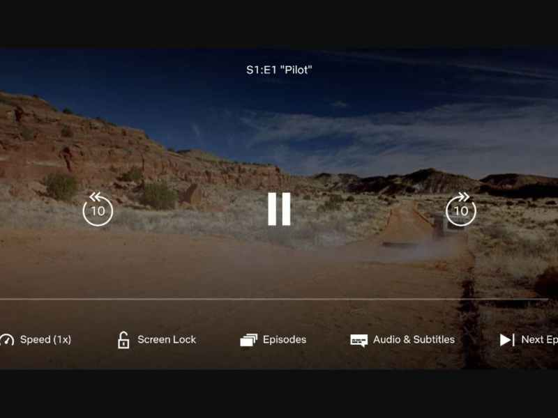 Netflix testing the Playback Speed Option