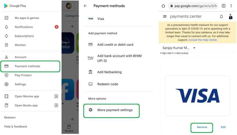 Steps to Remove a Credit Card from Google Play