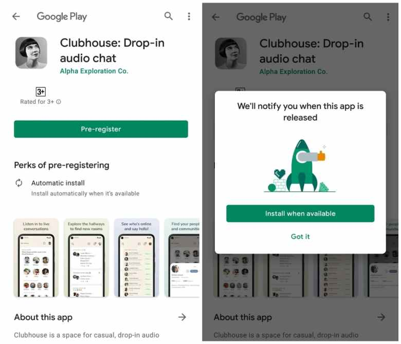 Clubhouse Android App Pre-Registration starts India