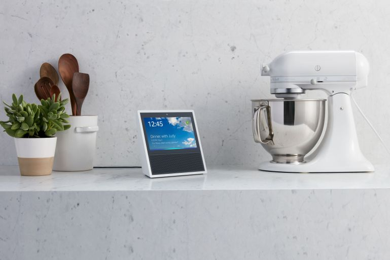 Amazon Echo Show, White, Kitchen Counter.jpg