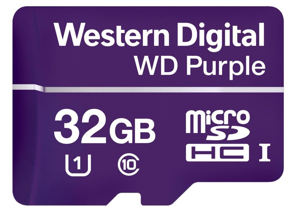 32GB Western Digital Purple microSD card