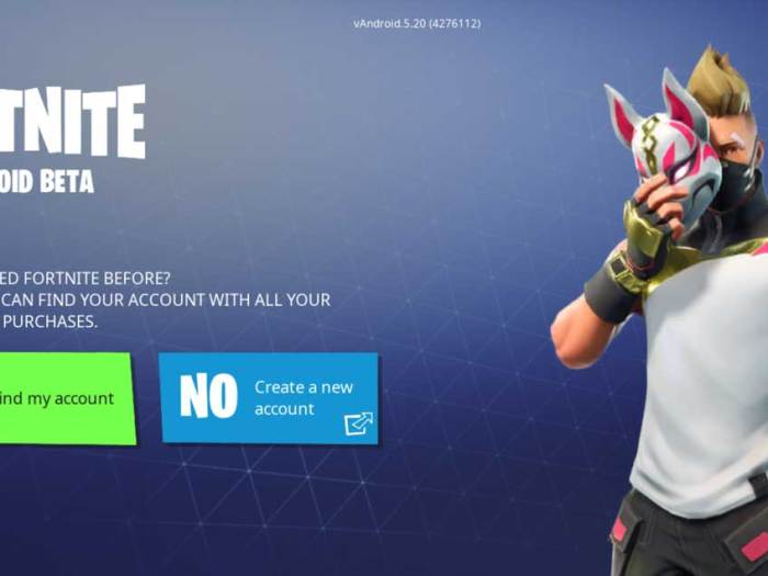 Fortnite Beta for Android