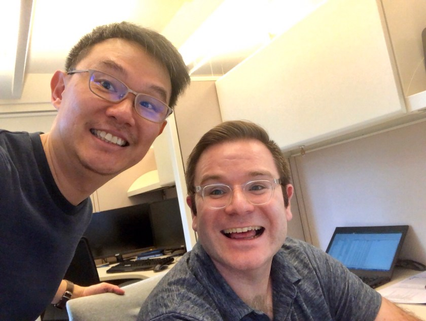 Robin Wong, Elsy Inc with his colleague