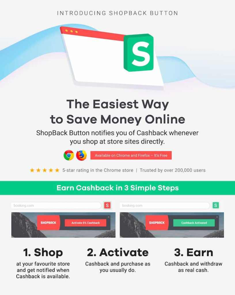 Launch of the new and improved ShopBack button (browser extension)