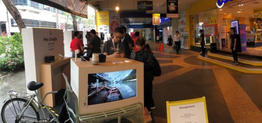 Shoppers get hands-on with the Google Pixel 3a and Pixel 3a XL at Courts Singapore