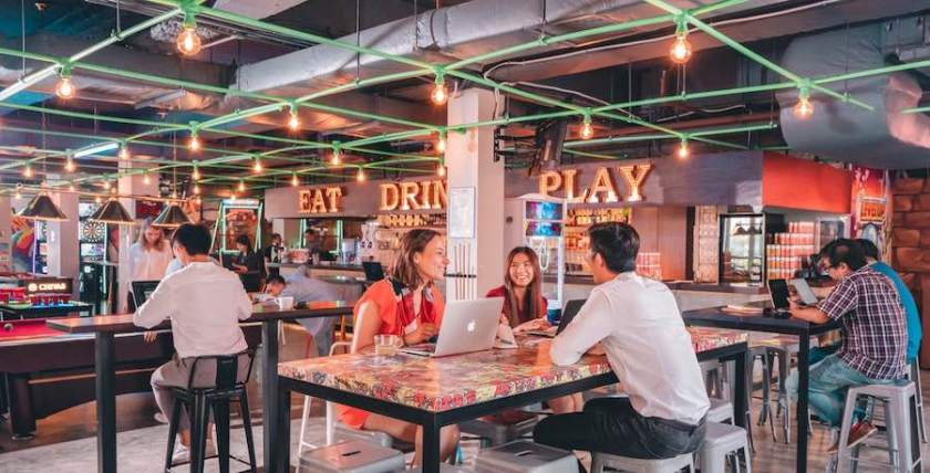 The Carrot Patch turns bars into co-working spaces