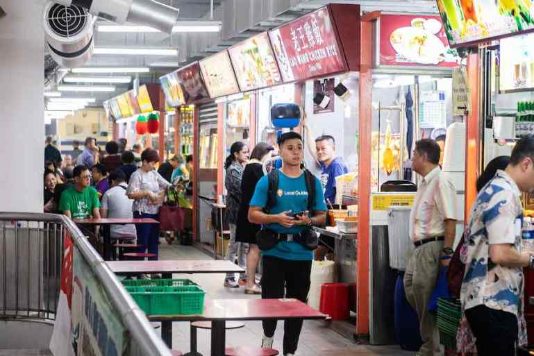You can access 114 hawker centres in Singapore by using Google Map
