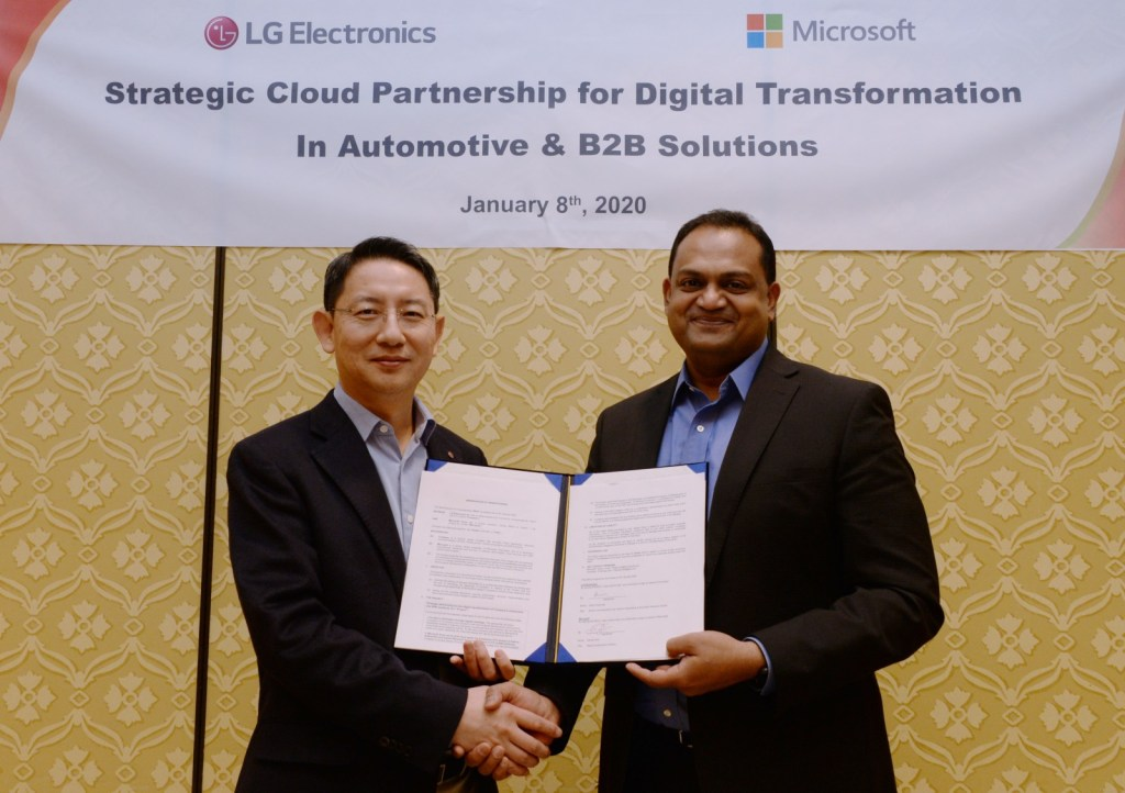 LG TO ACCELERATE B2B INNOVATION WITH MICROSOFT