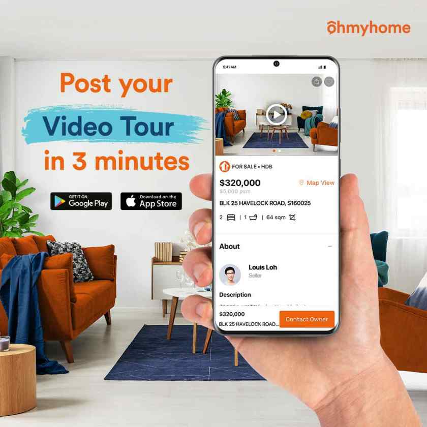 Home Viewings Go Virtual with Ohmyhome's Virtual Home Tour Feature While Staying Home