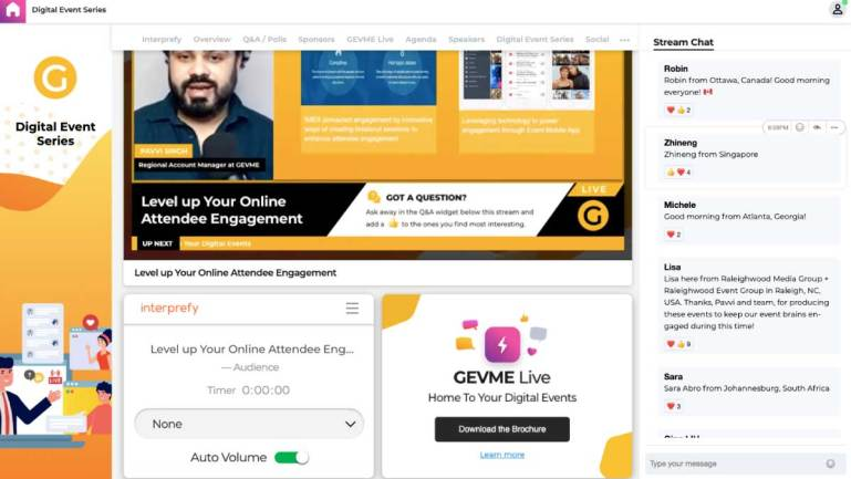 GEVME Live partners with world-leading remote simultaneous interpreting platform Interprefy