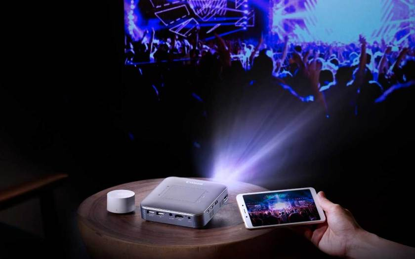 Experience Cinema on-the-go with Canon's MP250 Wireless Mini Projector