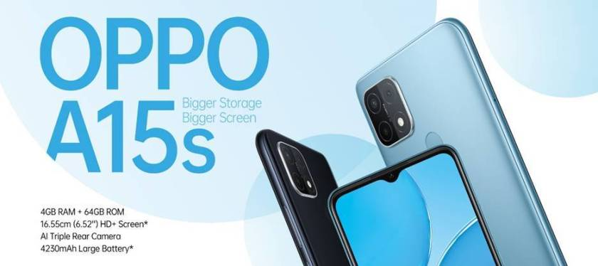 OPPO Launches OPPO A15s with Bigger Storage and Bigger Screen