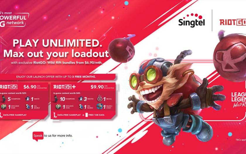 Singtel and Riot Games Southeast Asia launch world's first zero-rated gaming bundles for League of Legends: Wild Rift