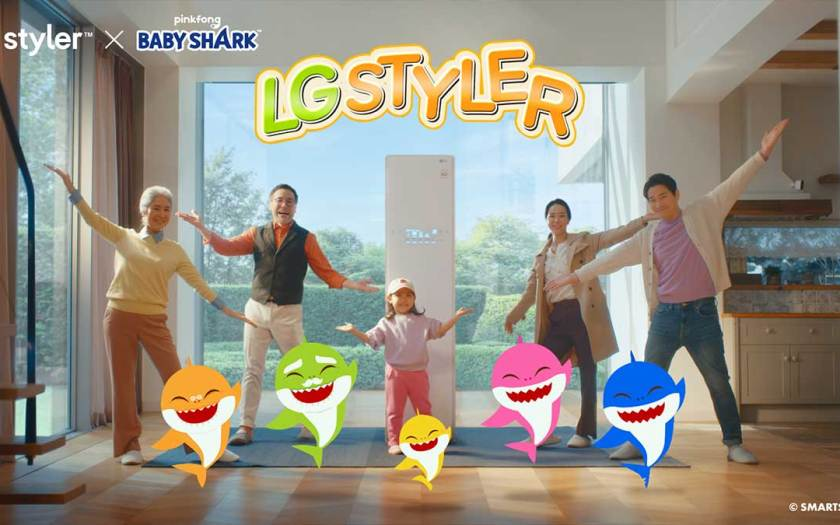 Life's good with LG STYLER™ and Pinkfong's 'BABY SHARK' in delightful campaign