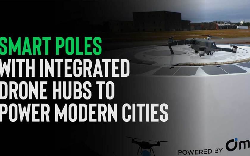 Smart Poles with Integrated Drone Hubs to Power Modern Cities