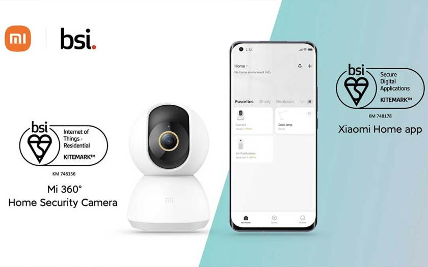 Mi 360° Home Security Camera and Xiaomi Home app gain BSI Kitemark™ for Residential IoT Devices and Secure Digital Apps
