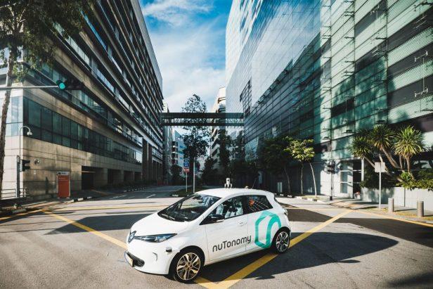 A nuTonomy driverless car