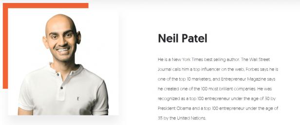 Content marketing genius Neil Patel