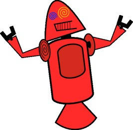First Android mascots - Red