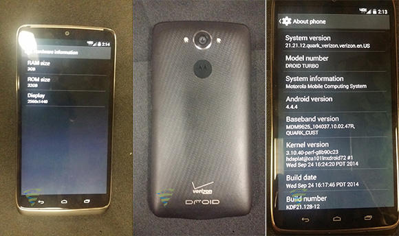 Motorola Droid Turbo leak