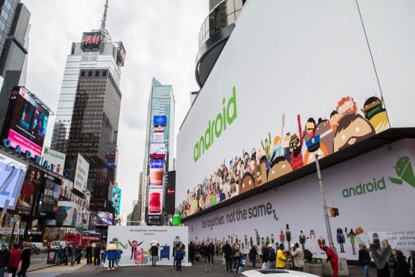 Google s massive Android billboard ad